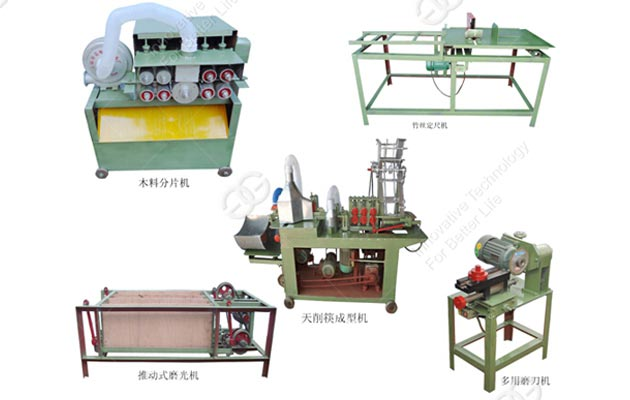 Round Disposable Wooden Chopsticks Making Line