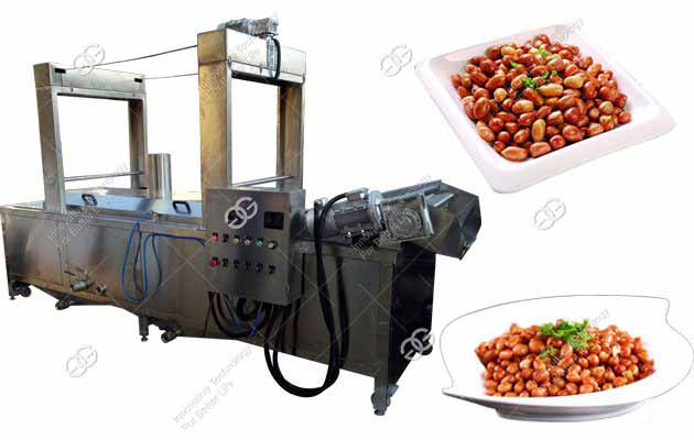 300KG/H Peanut Frying Processing Equipment|Groundnut Frying Machine