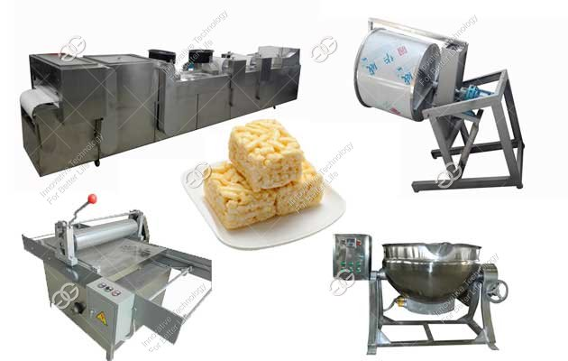 Automatic Sachima Production Line|Asian Rice Krispies Making Machine