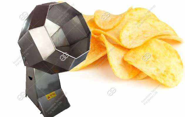 Automatic Stainless Steel Potato Chips Seasoning Machine For Sale