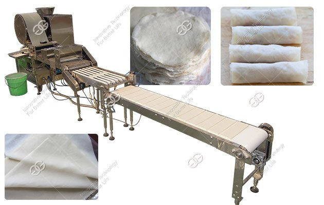 Automatic Lumpia Wrapper Maker Machine 0.3-1MM Thickness