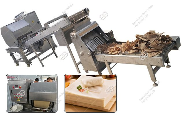 Thin Spring Roll Sheet Machine|Chinese Peking Duck Wrapper Equipment