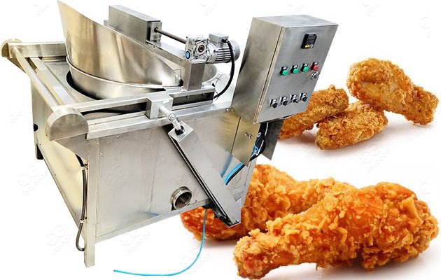 Stainless Steel Fried Chicken Broast Frying Machine PLC Control