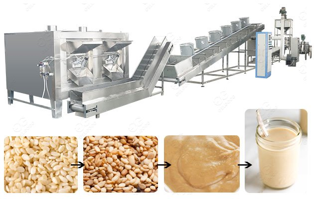 500KG/H Sesame Butter Production Line From GELGOOG