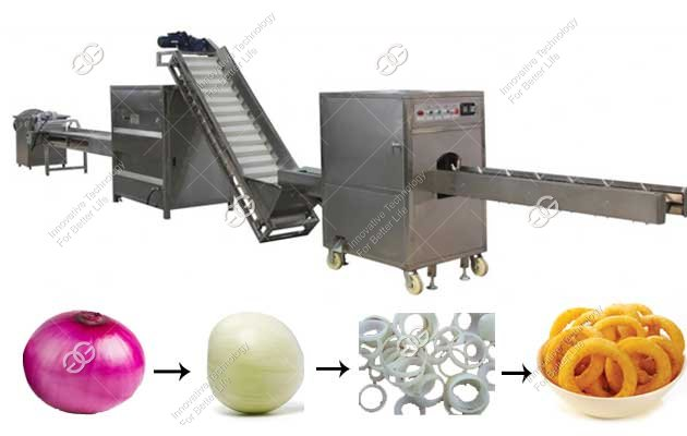 onion ring frying production line