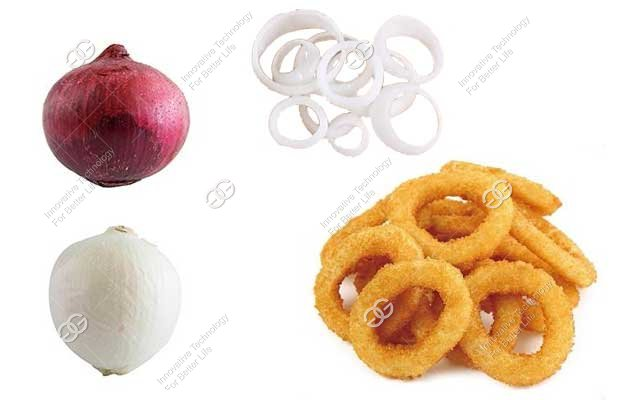 onion ring frying production process