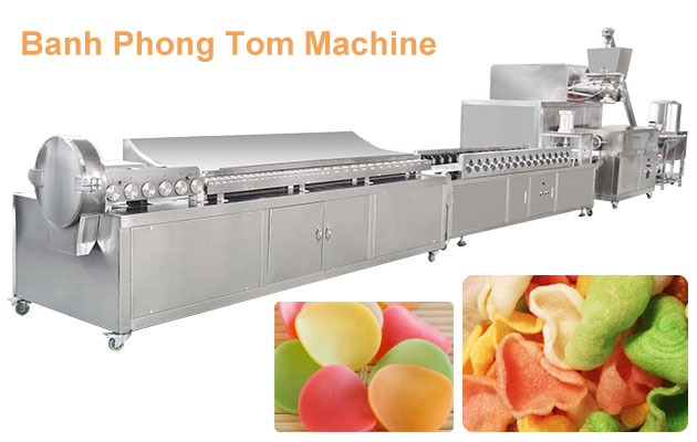 Commercial Banh Phong Tom Making Machine For Sale Indonesia