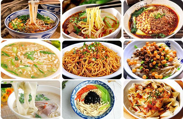 Different Types of Noodles in China